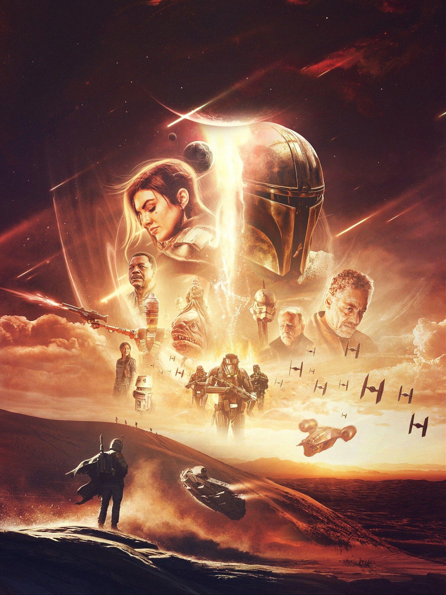 Themandalorian Starwarsart Disneyplus Mandalorian Poster Star Wars Art Star Wars Wallpaper