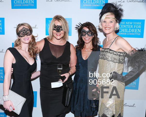 Anna Vassy, Claire Groome, Lisa Larson, Bettina Bennett at AUTUMNAL VENETIAN MASQUE SOIREE at Le Colonial. #BFAnyc