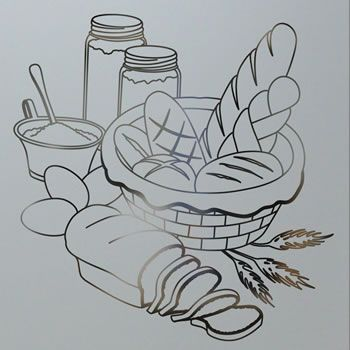 Bread Basket Basket Drawing Fabric Painting Coloring Pages