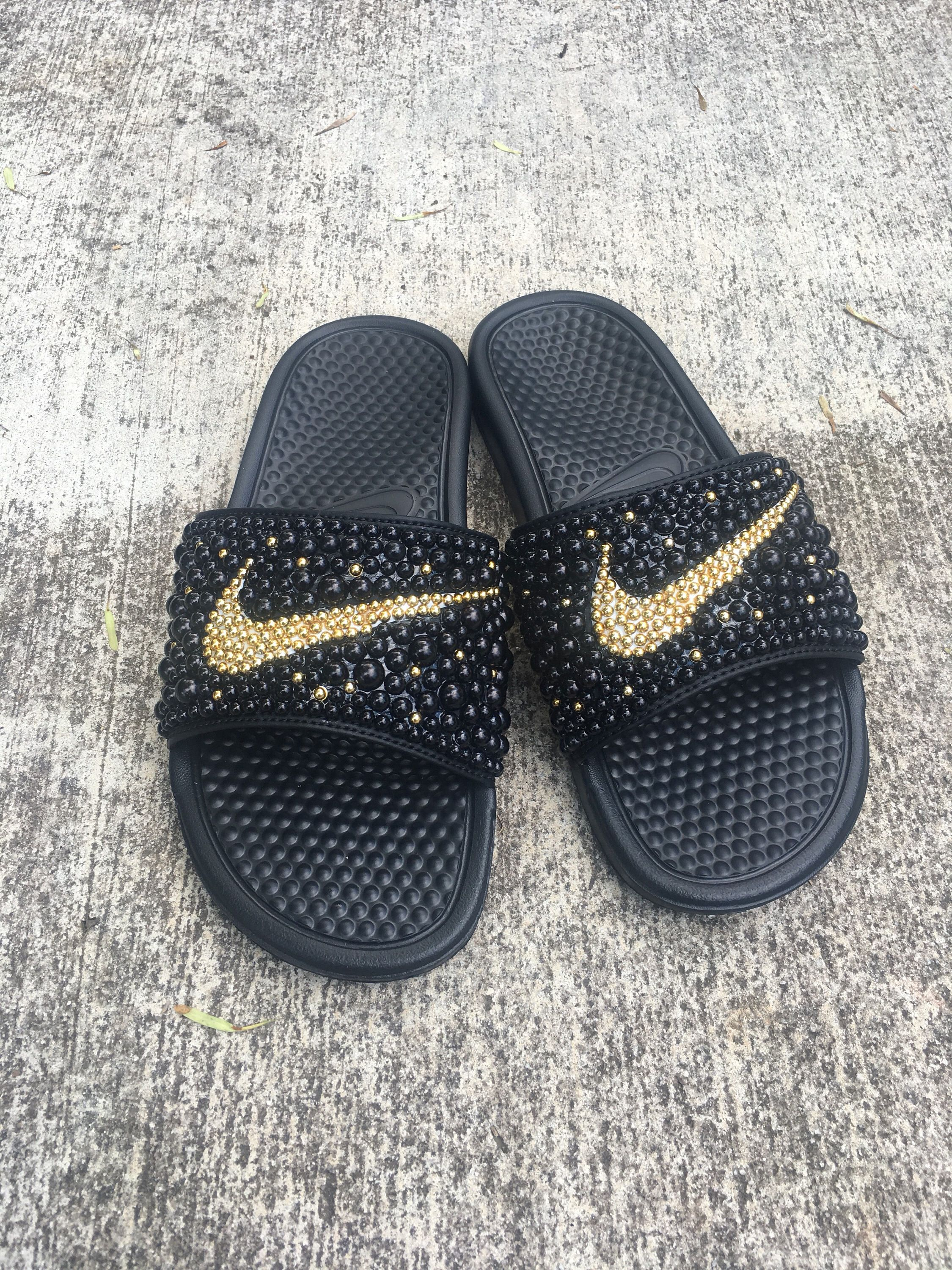 the best attitude 49509 4af88 Pin by Jai Nicol Designs on Bedazzler in 2019  Cute slides, Nike, Custom  shoes
