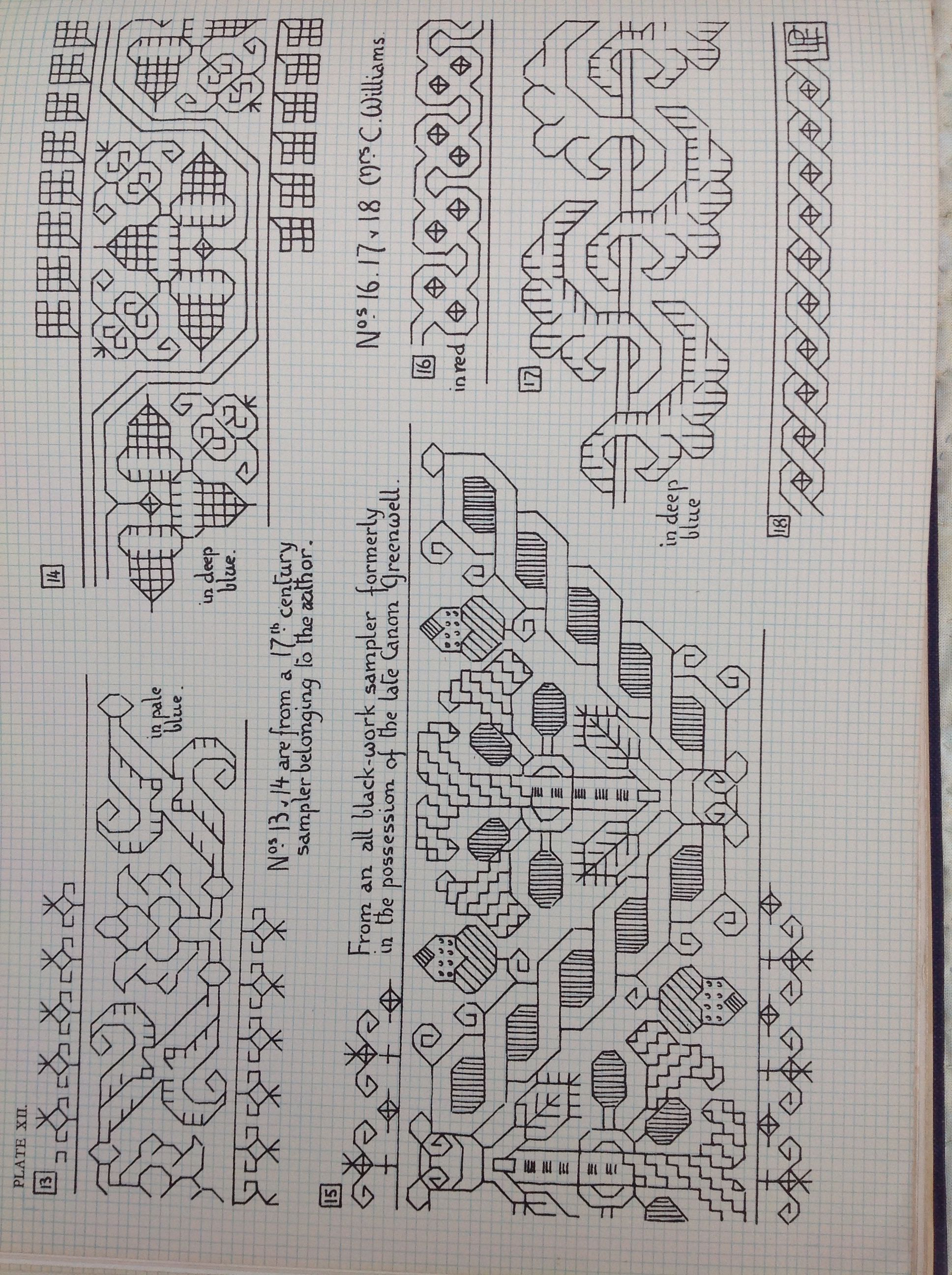 Historical embroidery chart
