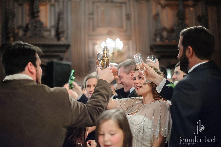 A toast at a Branford House wedding