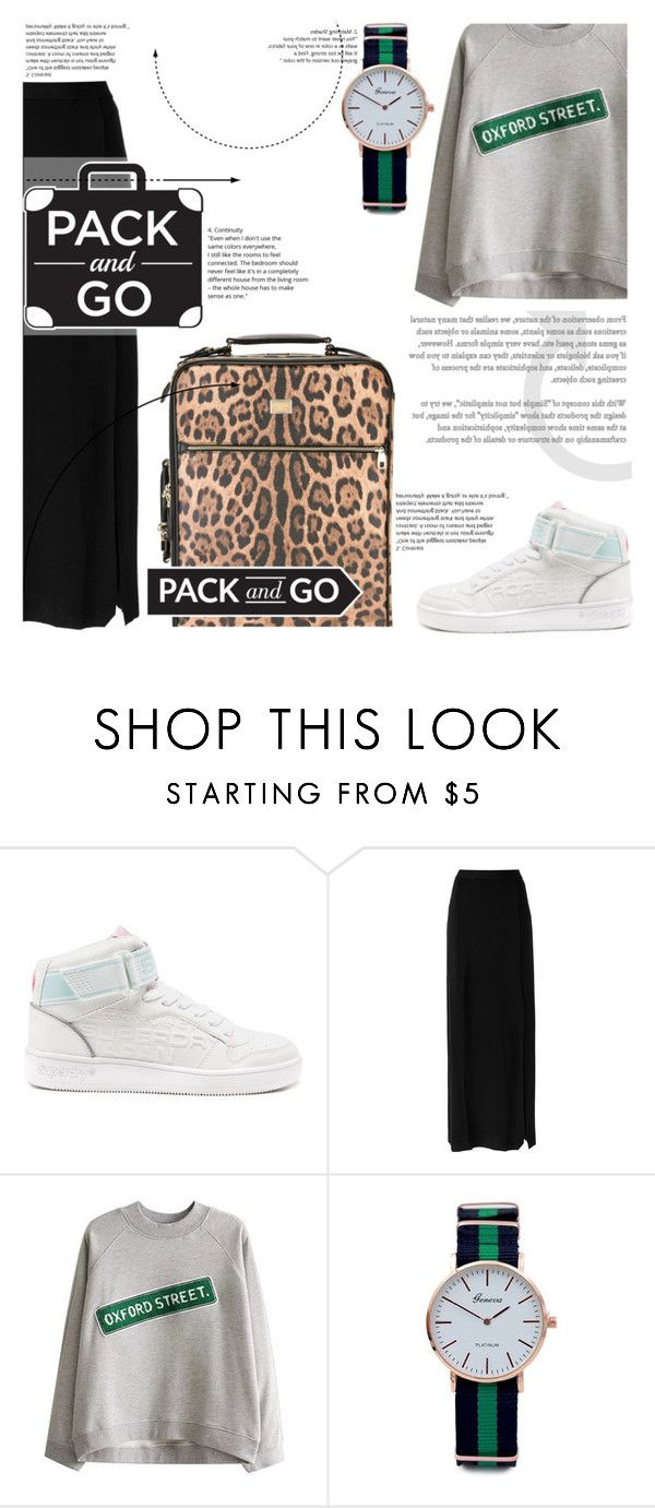 """""""№"""" by sophiateresa ❤ liked on Polyvore featuring Superdry, Osklen, Dolce&Gabbana, longSkirt and Packandgo"""