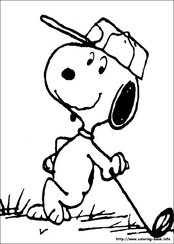 ENJOY the GAME cahillgolf.com Golfing Snoopy - Peanuts.