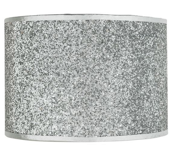 Buy home sparkling fabric shade silver at argos visit argos buy home sparkling fabric shade silver at argos visit argos aloadofball Images