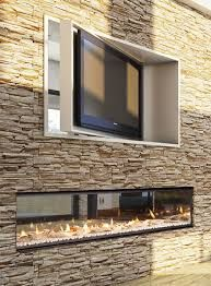 Image result for lounge design with oyster split face stone feature and gas linear fire