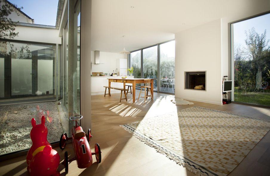 r novation extension d 39 une maison patio zinc lumi re mnm architectes rennes mnm. Black Bedroom Furniture Sets. Home Design Ideas