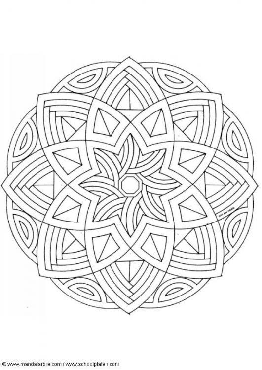 mandala Раскраски Pinterest Mandala para colorear, Mandalas y