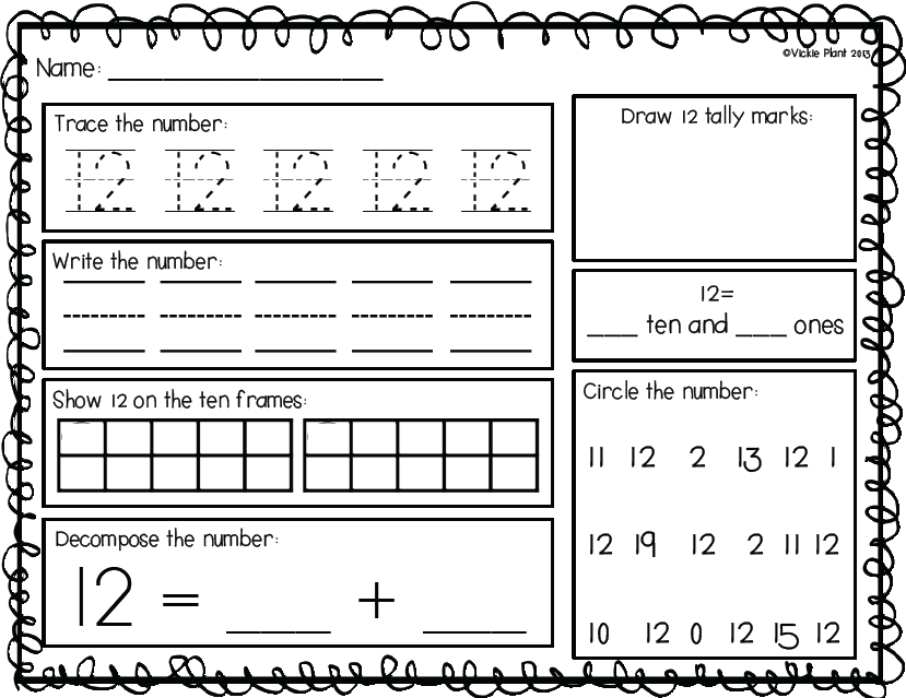 Nifty Numbers {Common Core Activities for Numbers 1-20} | Math ...