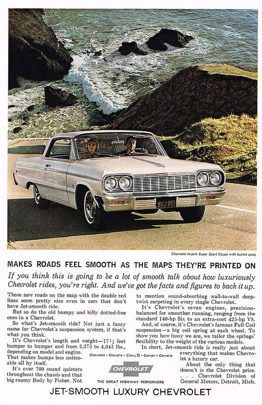 Vintage Ad For Roads As Smooth As A Map Chevrolet Impala