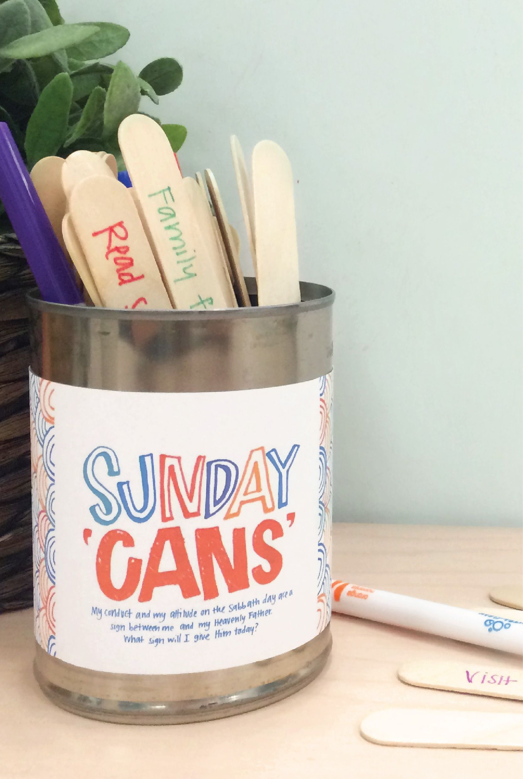 Make your own Sunday cans. Print this activity for your next family ...