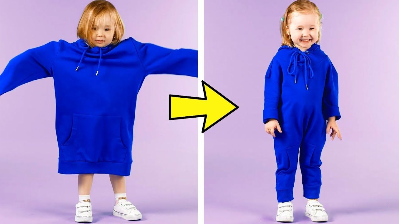 24 CLOTHES HACKS FOR SMART MOMS YouTube Clothing hacks