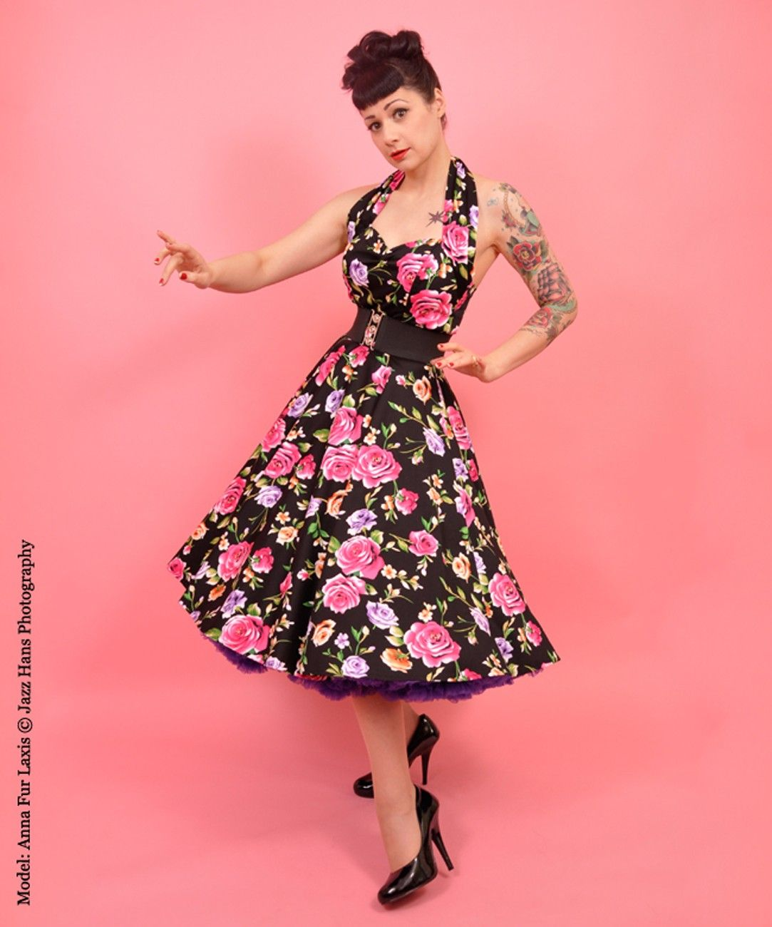 retro Pin up -50\'s Rockabilly Dress with Roses | Clothing Wish List ...