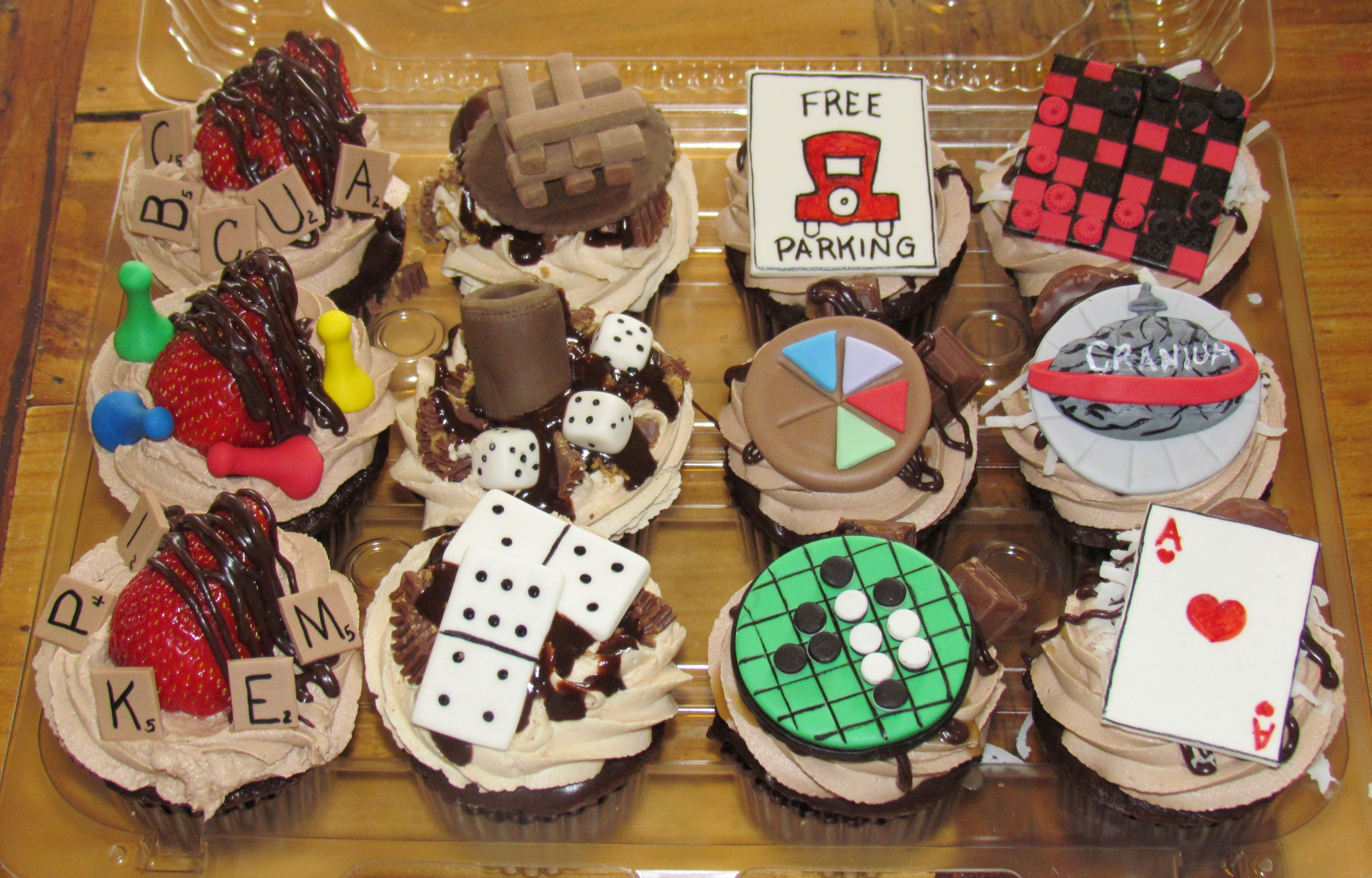 Game Night Cupcakes Board Games With Images Game Night Food