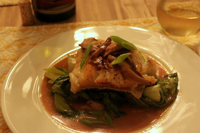 Eat, Love, and Be Merry.: Poached Sea Bass in a Shiitake Miso Broth