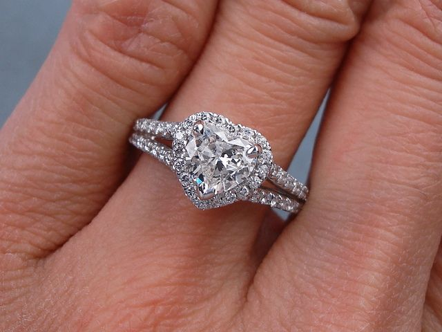 104 ctw heart shape diamond engagement ring g vs2 for sale on our website www - Heart Shaped Wedding Rings