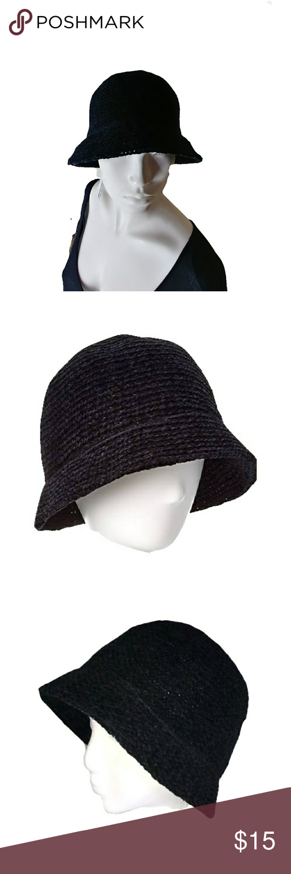 1848df4a8e2 Black · August Hat Company Warm Crochet classic chenille August Hat Company  Women s Warm Crochet Chenille Classic Cloche