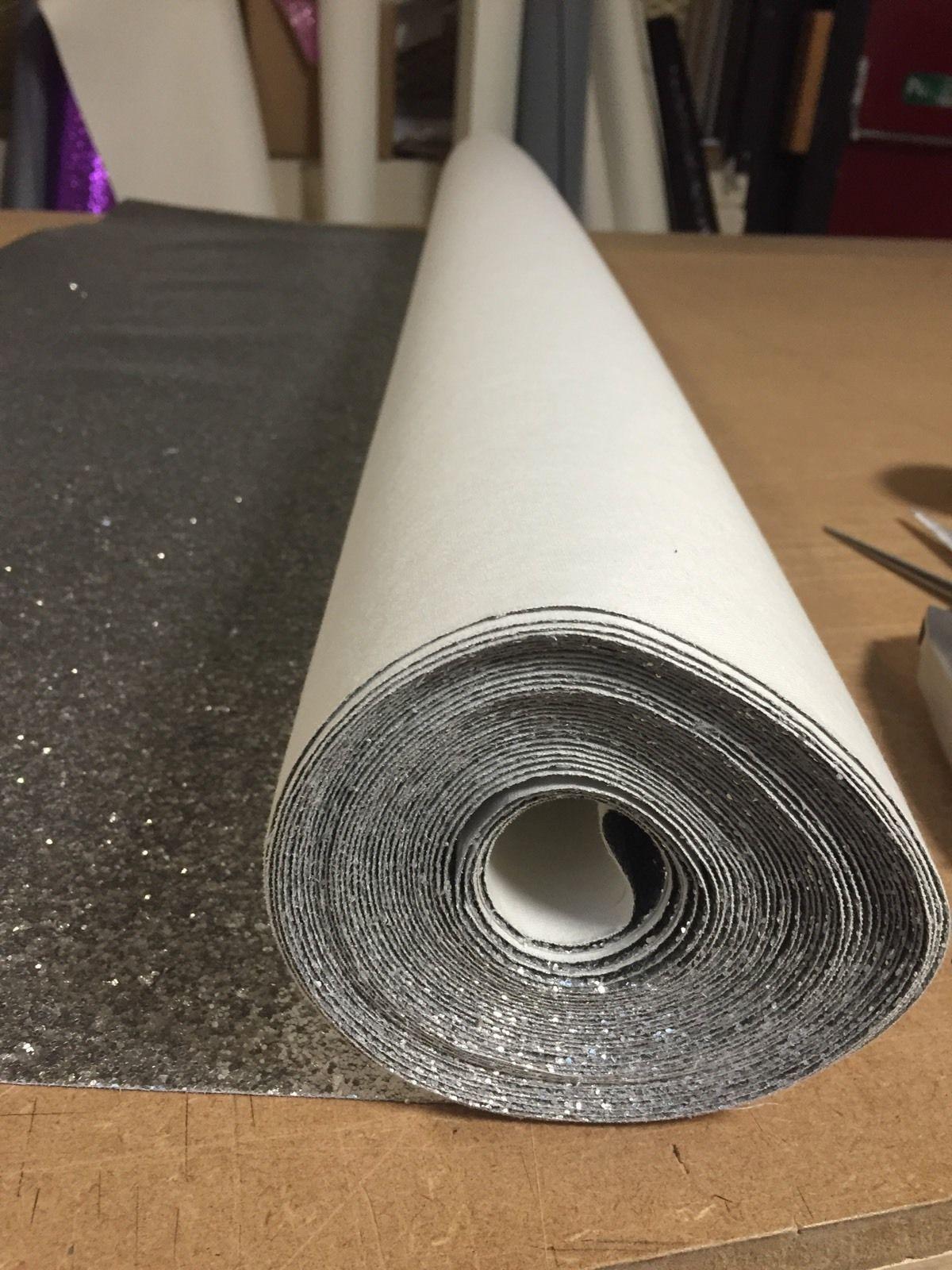 Silver Chunky Glitter Wallpaper Covering Grade 3 Bling 10 Metres Best Price Ebay Glitter Wallpaper Glitter Wall Wallpaper