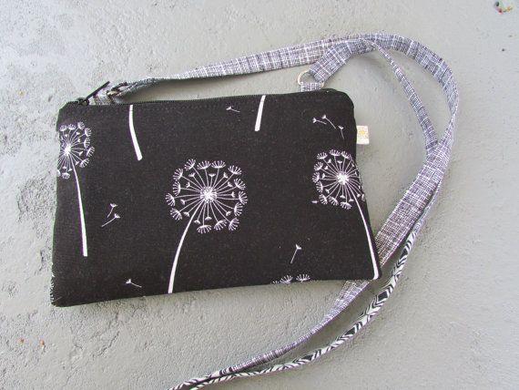 Small Cross-body Purse  Cash Envelope Bundle  by daisylanedesign #crossbody #cashenvelopebundle #dandelions