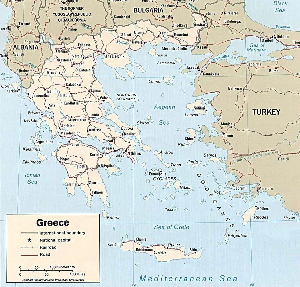 Cartina Della Grecia Antica In Italiano.Mappa Della Grecia Cartina Della Grecia Mappe Grecia Mappa