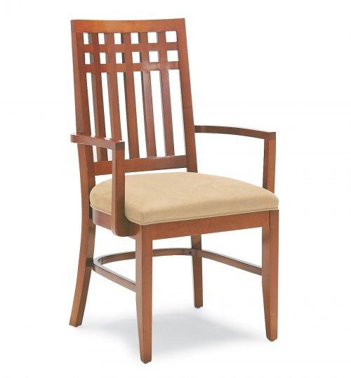3455 Wood Arm Chair