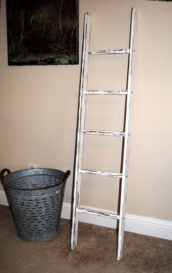 4ft Decorative Ladder Rustic Ladder Rustic Wooden Ladder Etsy Ladder Decor Rustic Ladder Decor Decor