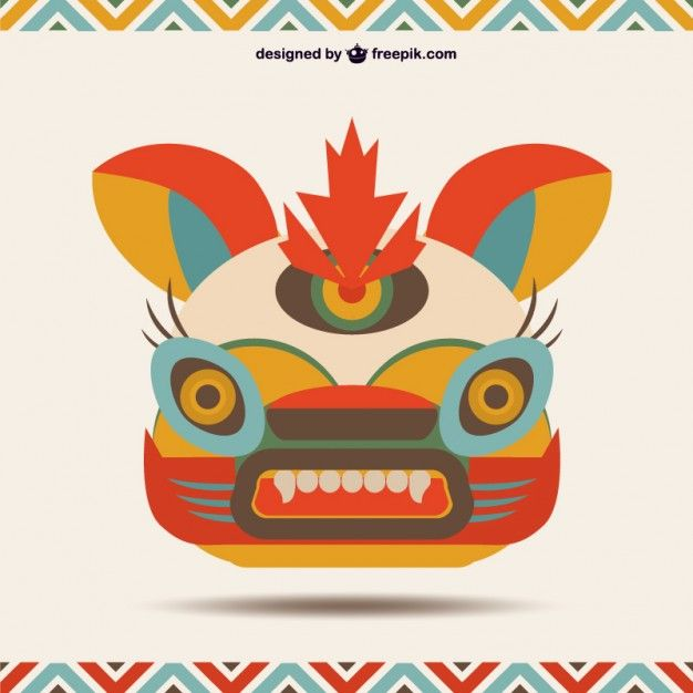 Chinese Monster Template Free Vector  Free Vectors
