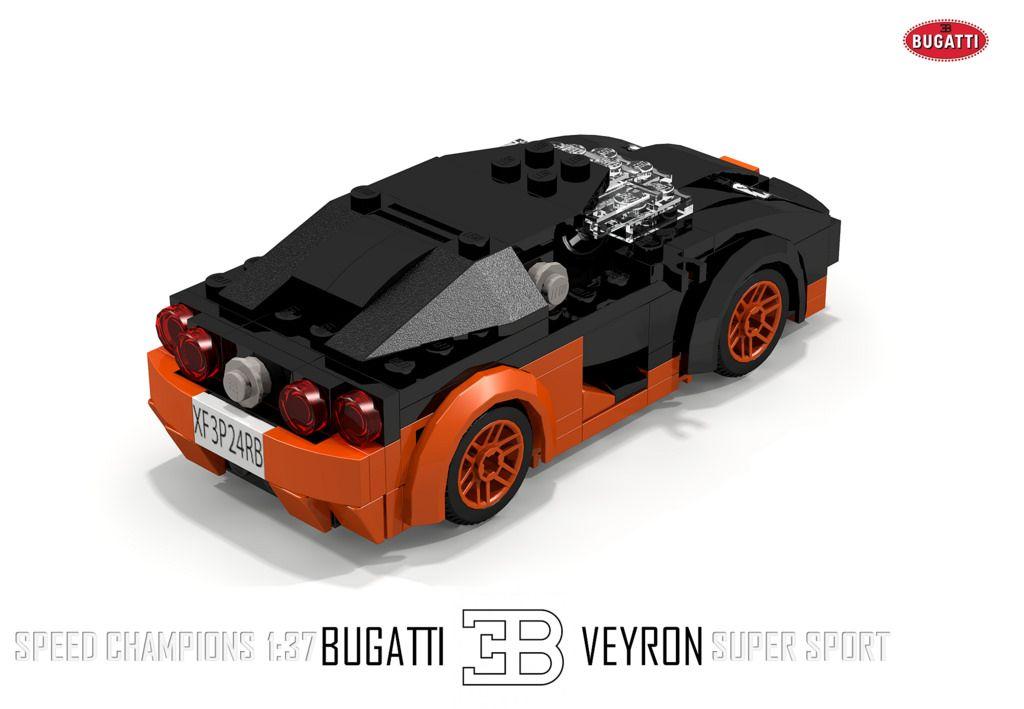 bugatti veyron super sport (speed champions 1:37)   lego cars