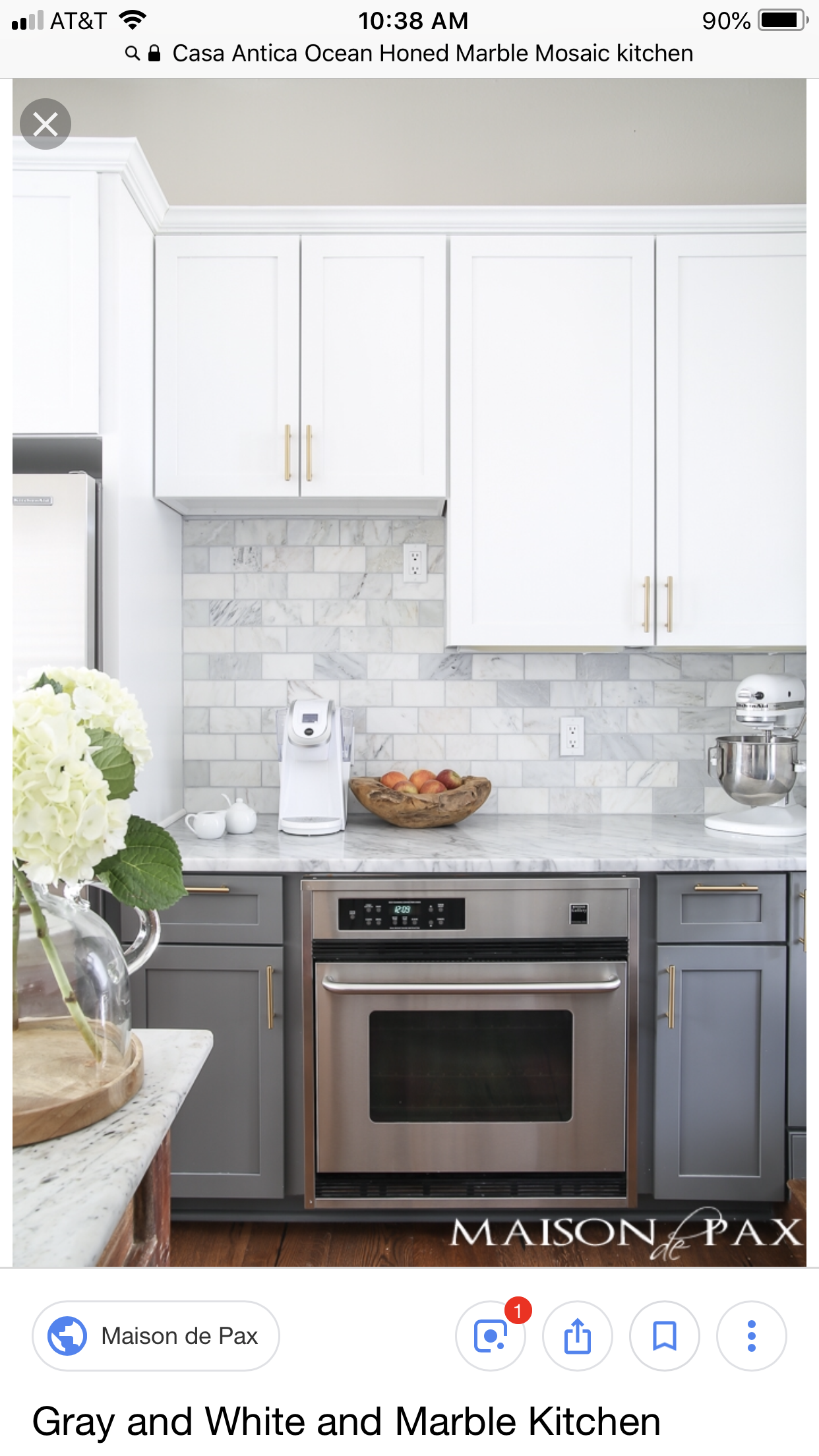 Honed Marble Mosaic Kitchen
