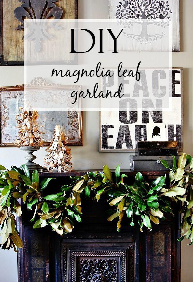 Diy Magnolia Leaf Garland Leaves And