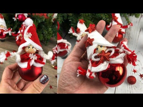 Decorazioni Natalizie Youtube.Tutorial Facilissimo Con Riciclo Palline Di Natale Youtube