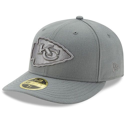 promo code 64764 f4228 Men s Kansas City Chiefs New Era Storm Gray League Basic Low Profile 59FIFTY  Structured Hat