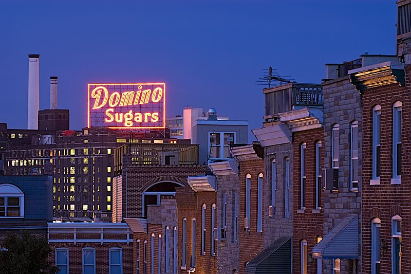 Dominos Sugar Baltimore Md Great Shot With The Row
