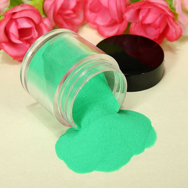 18 Color Acrylic UV Powder Dust Glitter Polish Nail Art Kit Set ...