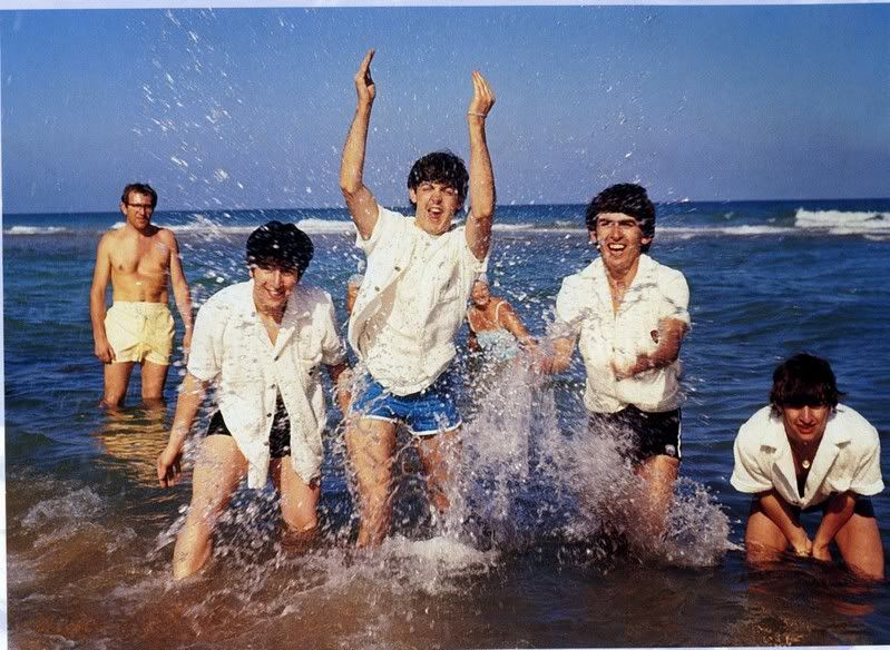 The Beatles visit Miami Beach February, 1964. [799x584] | Visit miami  beach, The beatles, Beatles george harrison
