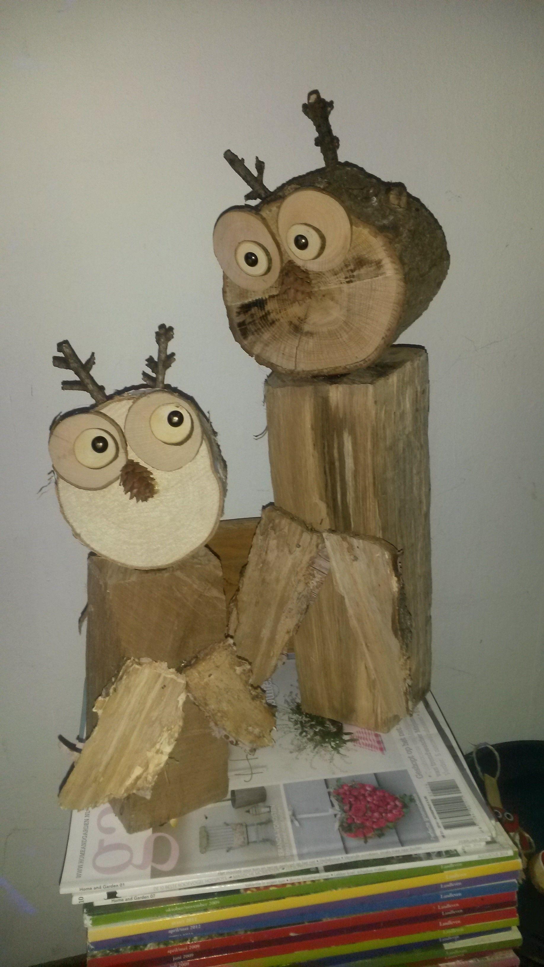 uilen van hout pots de fleurs buche de bois bois et. Black Bedroom Furniture Sets. Home Design Ideas