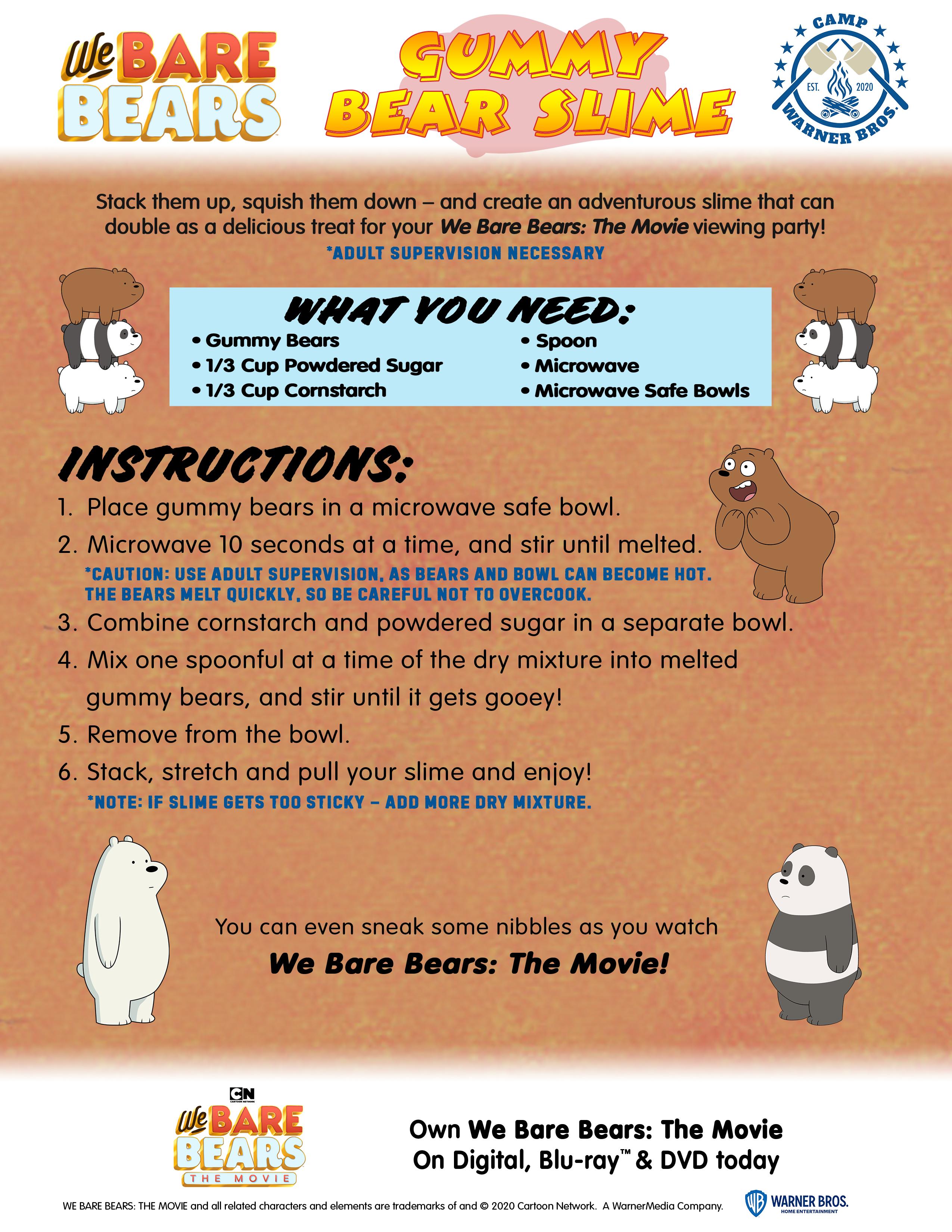 Diy Gummy Bear Slime Virtual Summer Camp Activity