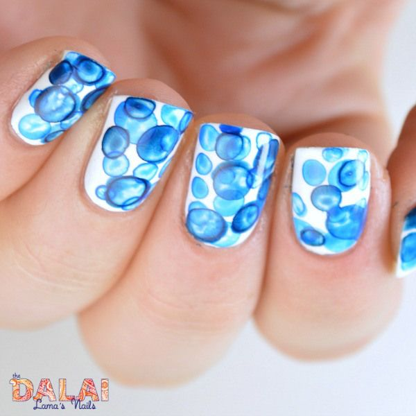 Bubble Nail Art: Bubbles Nail Art With Acrylic Paint