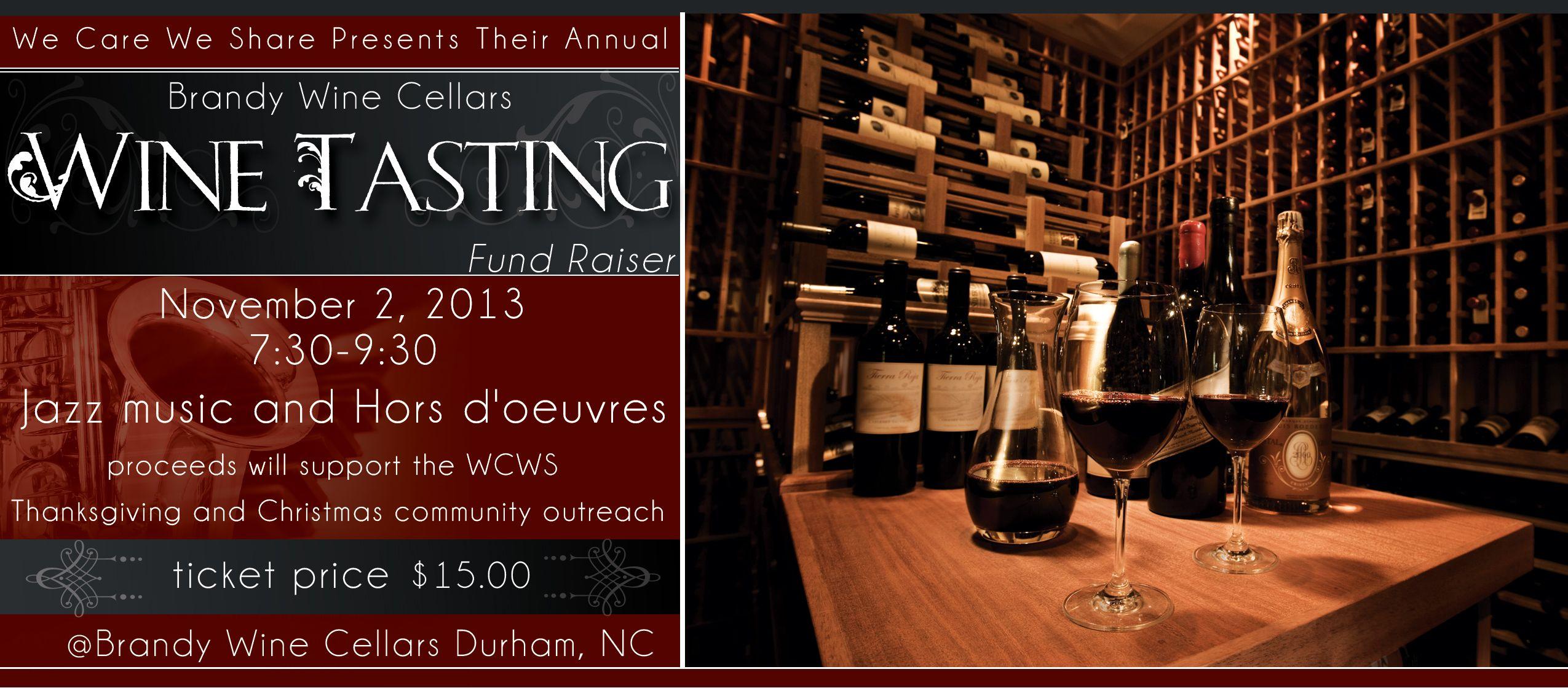 We Care We Share Wine Tasting Fundraising Event Wine Tasting Events Wine Tasting Fundraising Events