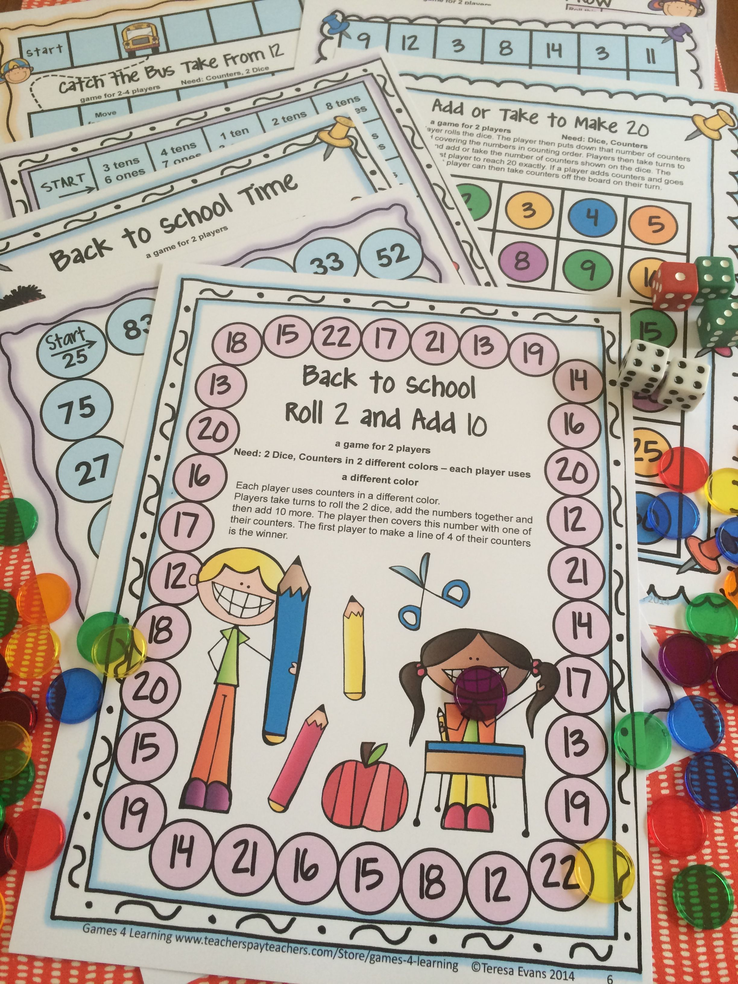 Back To School Math Games Second Grade Back To School