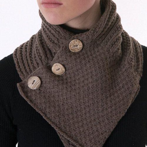 Three Button Collar Scarf Less Flexible Xuan Jae Taylors Yarn