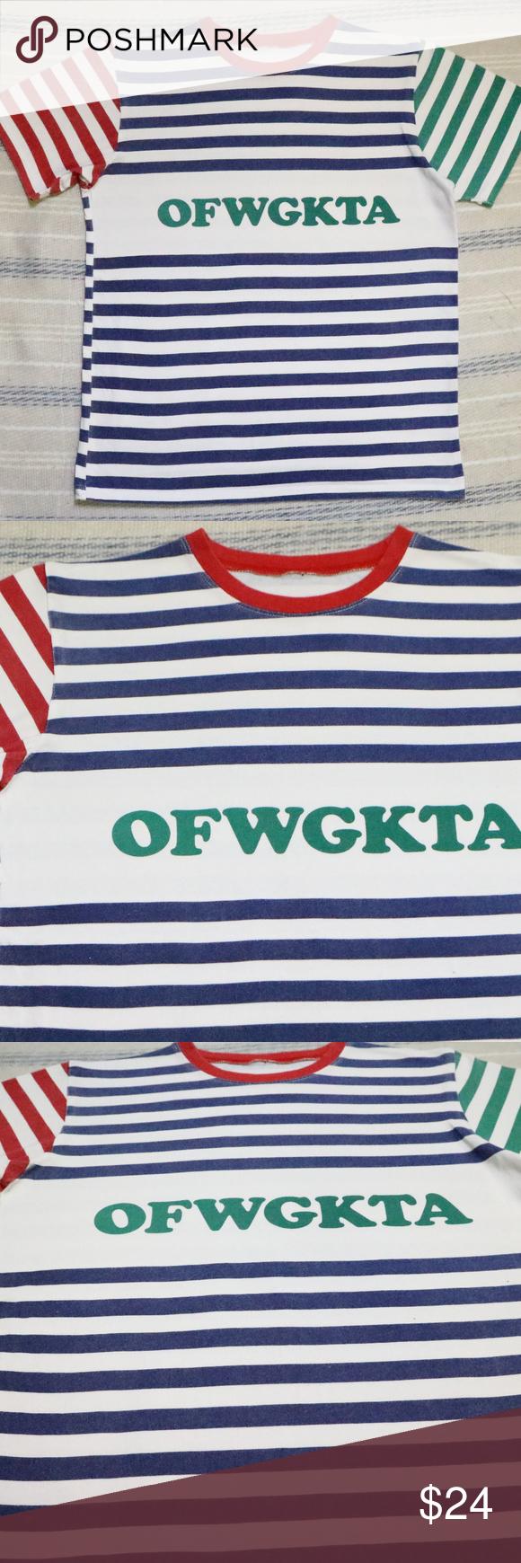 9da603494f95 ODD FUTURE OFWGKTA Colorblock Striped Tee T-shirt Excellent condition