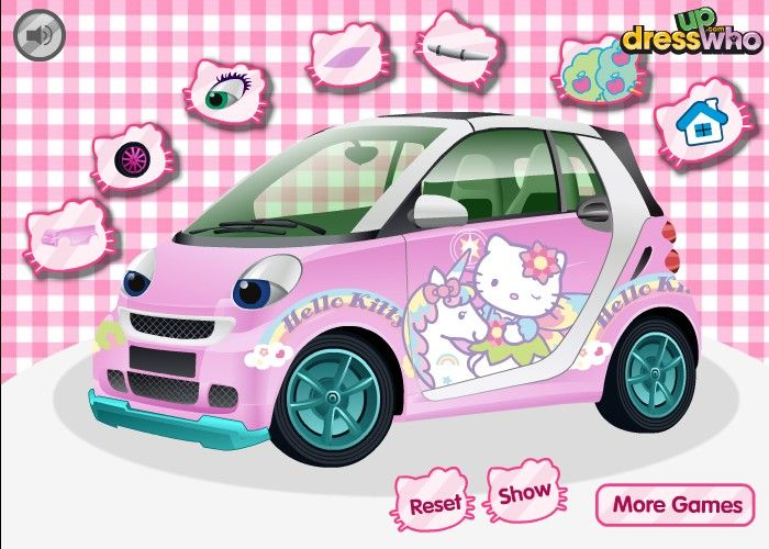 Here Is A Car For You You Should Modify It With Hello Kitty Accessories You Can
