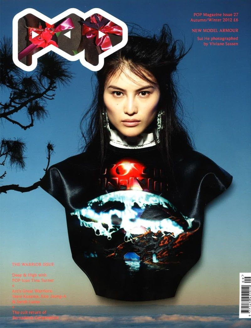 POP F/W 2012 Cover lensed by Vivianne Sassen, featuring chinese A-list model Sui He head above the rest (but in a Balenciaga sweater from F/W rtw)