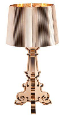 lampe de table bourgie m tallis e kartell copper in. Black Bedroom Furniture Sets. Home Design Ideas