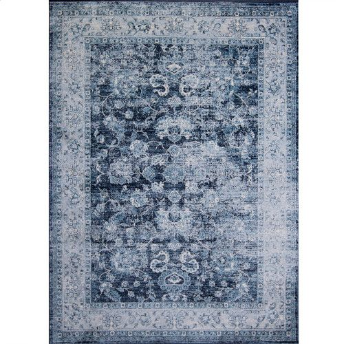 Found It At Allmodern Corydon Distressed Navy Area Rug 5x7 139 On Sale Faded Area Rugs Area Rugs Navy Area Rug