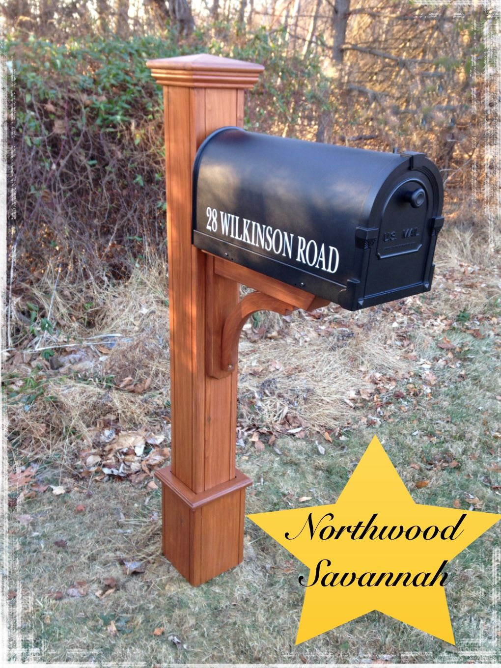 Northwood Savannah Handcrafted Out Of 100 Western Red Cedar With A Rust Free Aluminum Mailbox Beautiful Wooden Mailbox Diy Mailbox Mailbox Design