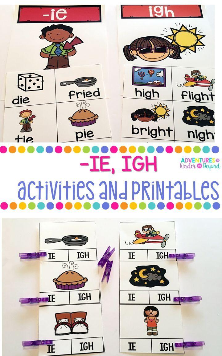 Long I Ie Igh Activities And Printables Classroom Adventure Abc Phonics School Adventure [ 1152 x 720 Pixel ]
