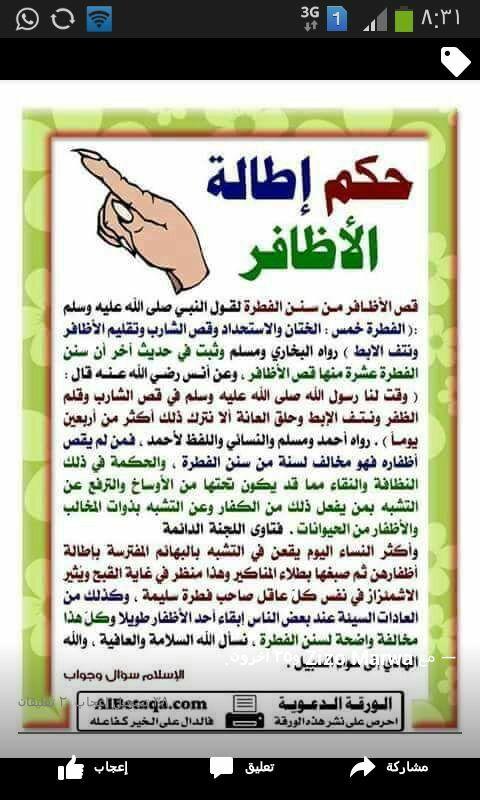 حكم اطاله الاظافر Learn Islam Islam Facts Words Quotes