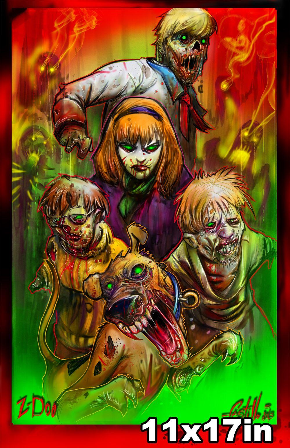 """Zdoo"" in 2020 Zombie cartoon, Zombie art, Scooby doo"